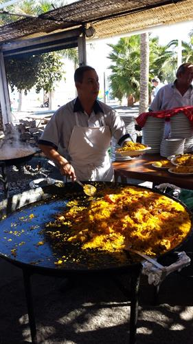 Paella at Burriana Beach