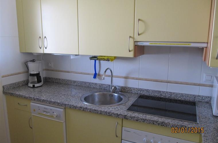 Renovated kitchen with granite worktops