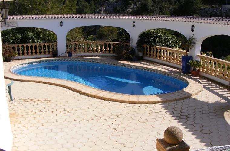 10 x 5 Kidney shaped pool with roman steps