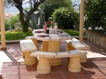 Barbeque terrace with pergola & dining area