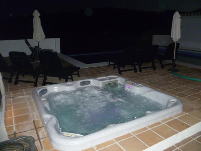 Night time dip in the Spa