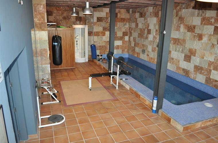 gym, sauna and inside pool