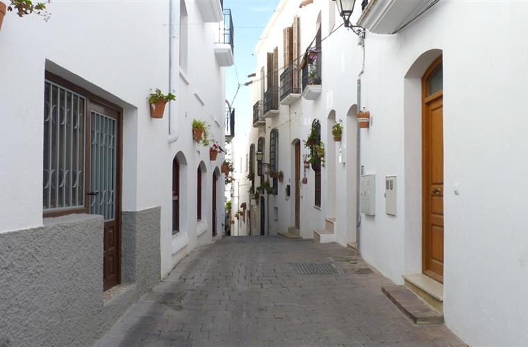 A typical street in Mojacar Pueblo