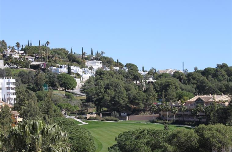 View from terrace to golf course
