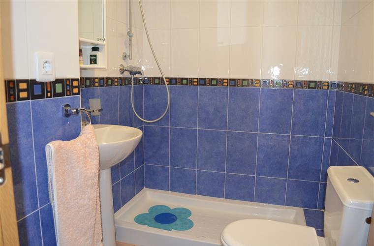 separate bathroom with shower