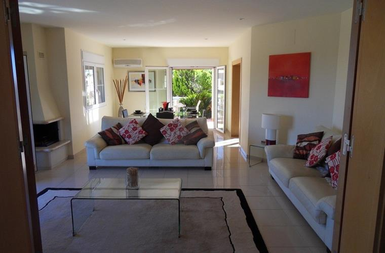 Lovely lounge leading to terrace, pool, breakfast room and kitchen