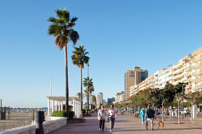 Fuengirola seafront promenade at 5 minutes driving from the villa