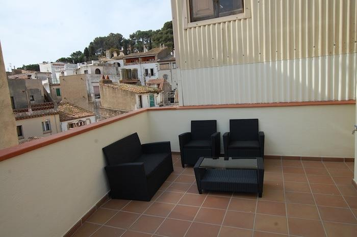 Roof terrace with lounge corner and views over Tossa's old town
