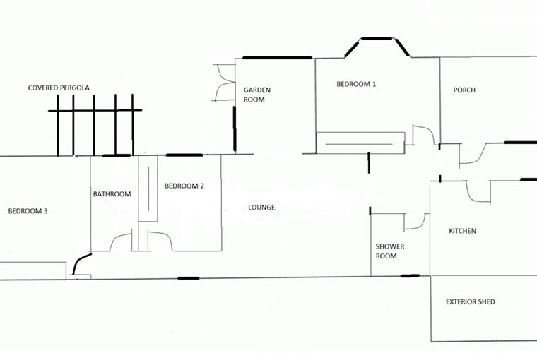 Plano distribución interior. Plan of the layout of the property