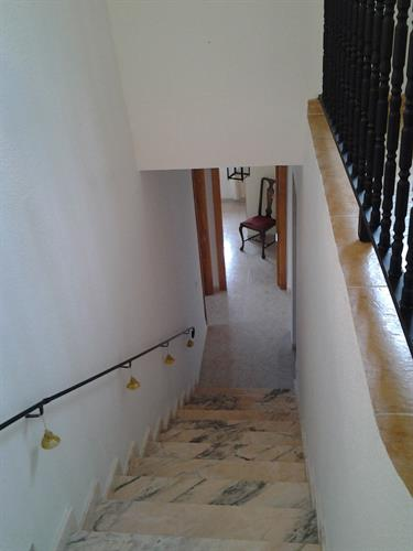 Stairs to downstairs level