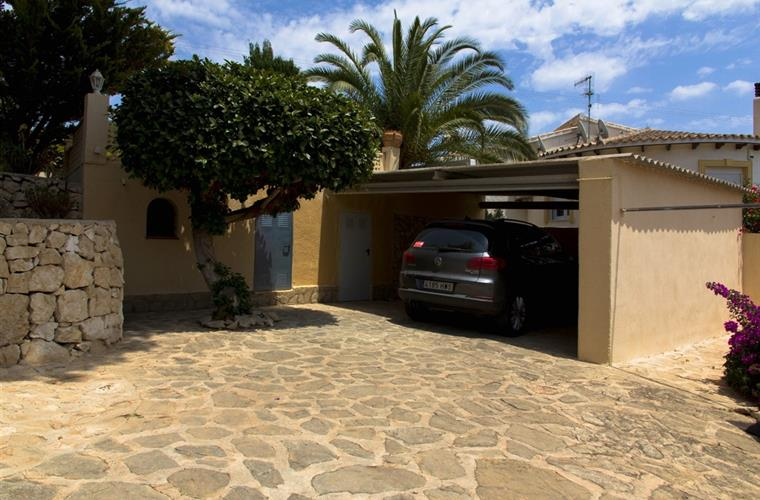 Big private parking place with carport