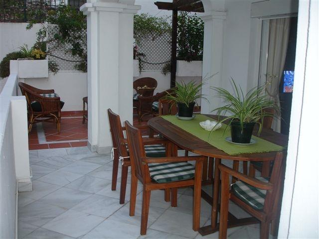 partly covered patio