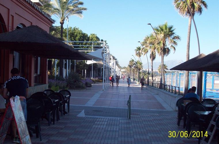 The Promenade across the road from the apartment.
