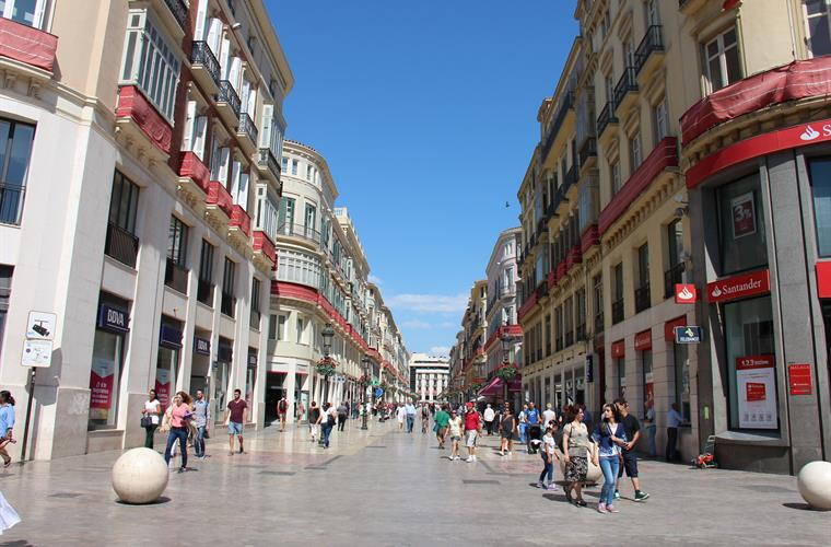 Malaga main walking street - less than 30 minutes drive