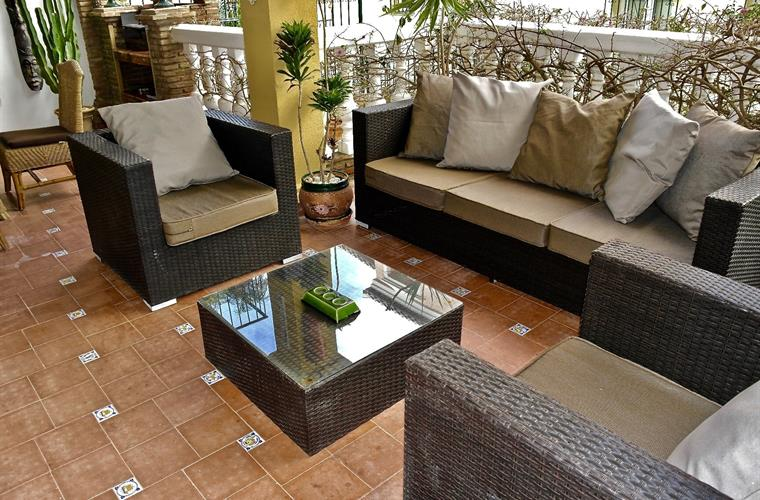 Large Luxury Terrace Area for lounging and enjoying a drink