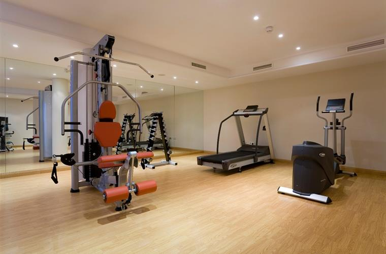 Fully equipped gymnasium.