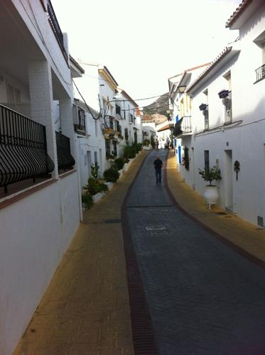 Narrow cobbled street in Estepona's old town