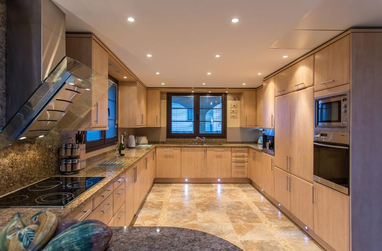 Modern kitchen with top of the range appliances