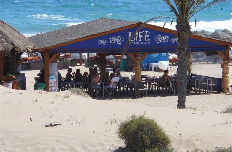 Life Beach Club cafe & bar with toilet facilities