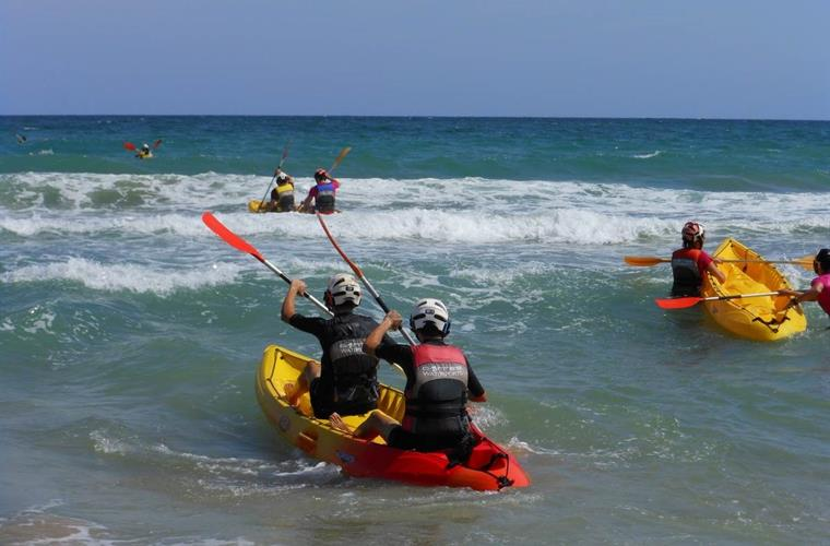 Just one of several activities on the Carabassi beach