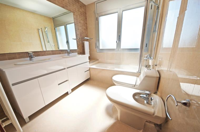 Main upgraded bathroom