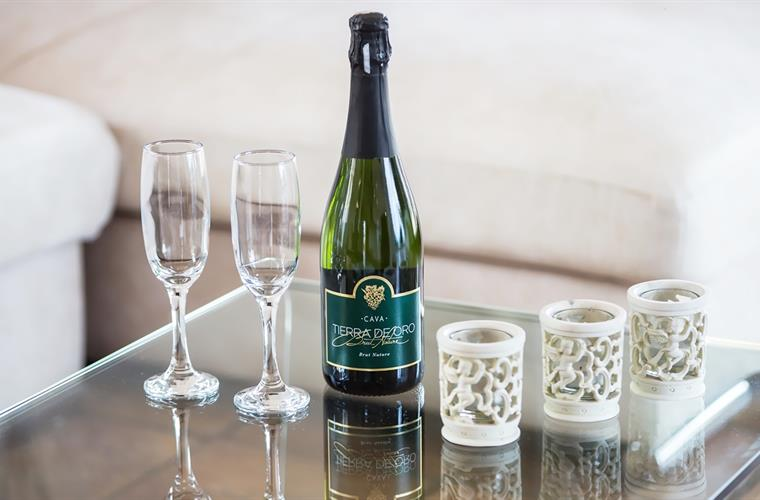 Complimentary Sparkling wine awaits you at the Villa upon arrival.