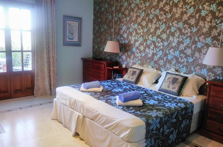 The master bedroom which is on the ground floor of the villa