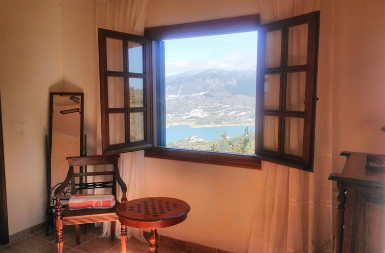 Looking over Lake Vinuela from the Tower bedroom