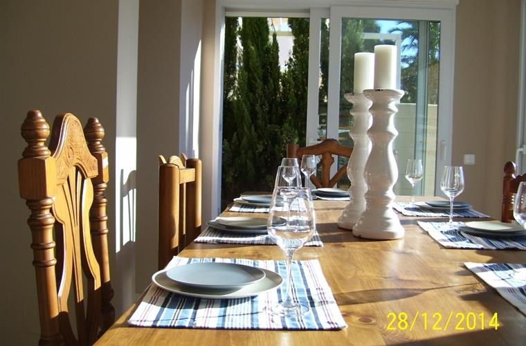 family dining table inside