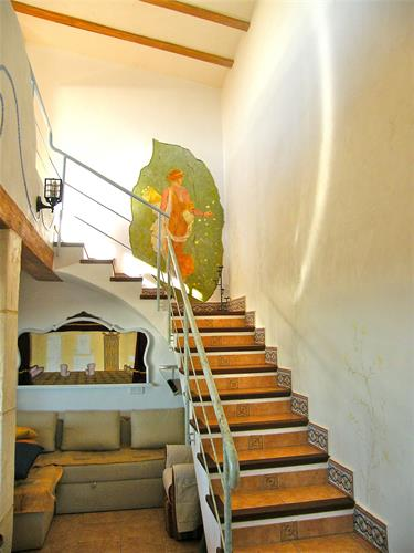 Stairwell leading to second floor