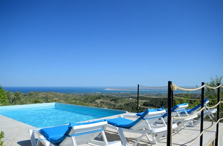 Villa La Calma - sun-terrace overlooking the coast
