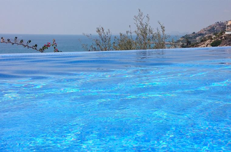 infinity pool with magnificent sea view