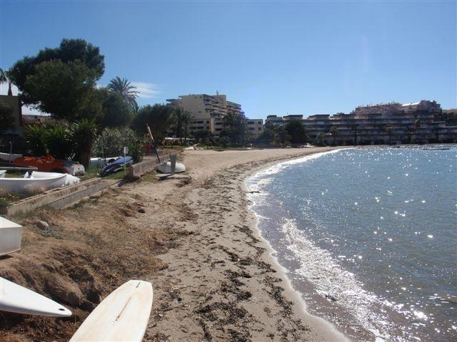 The Mar Menor sandy beach less than a minute's walk from the house