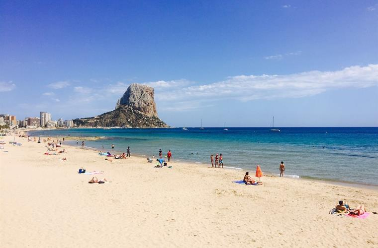 Calpe beach in june2016