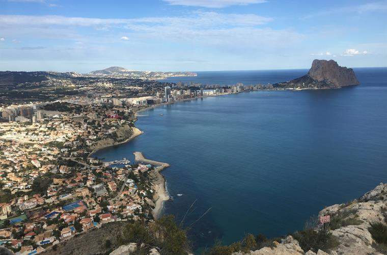 View of Calpe from Monte Troix above Maryvilla