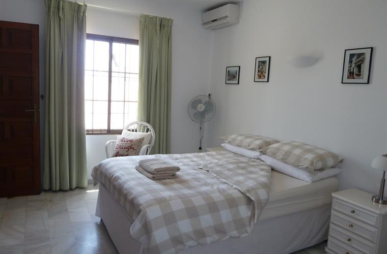 Master bedroom with new air conditioning/heating