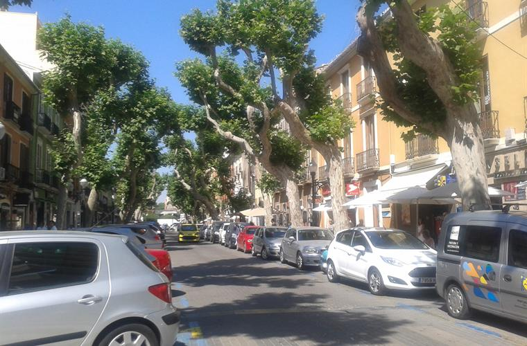 Marques de Campo, main street, Denia