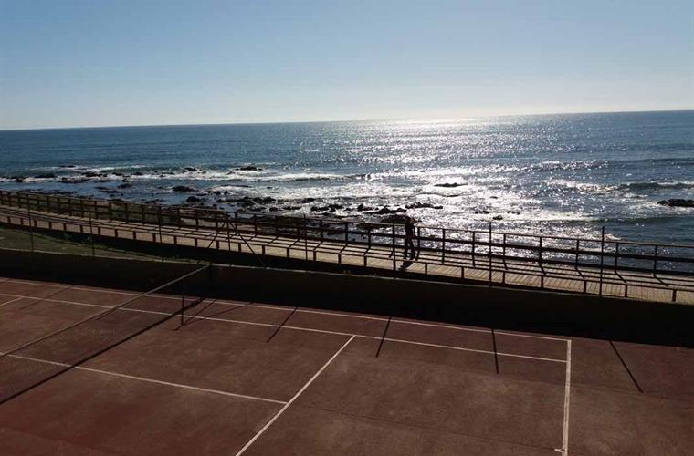 Free tennis court with stunning views.