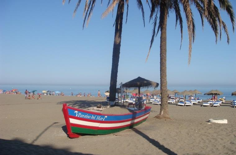 The beach in Estepona