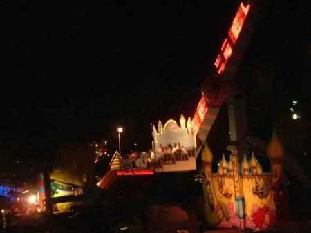 NIGHT TIME FUNFAIR OUTDOOR ENTERTAINMENT