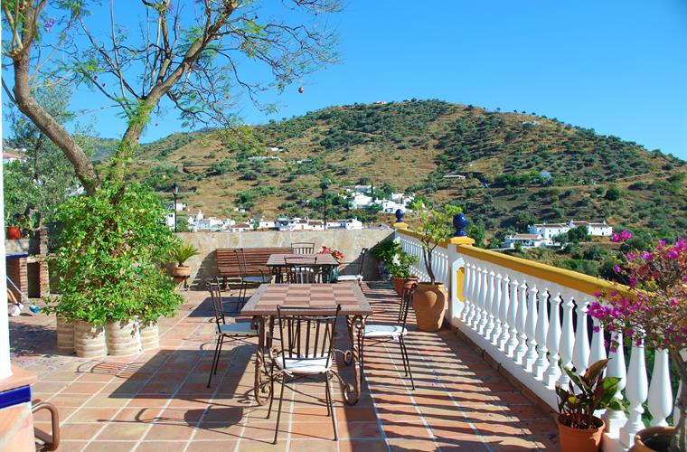 Spacious terrace overlooking the village