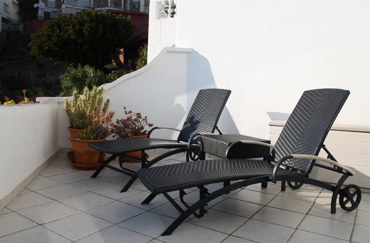 sun-lounger on the terrace
