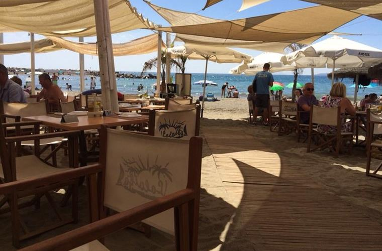 Lovely beach clubs at Cristo beach, only 7 minutes walk.