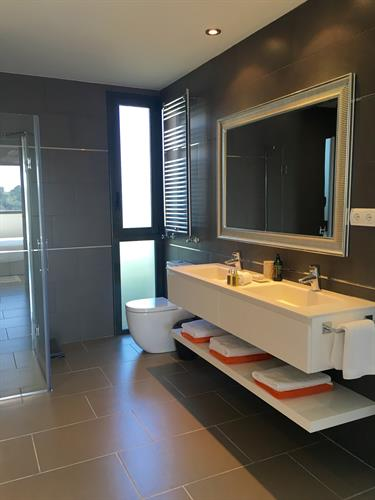 Ensuite bathroom with shower 1st floor.