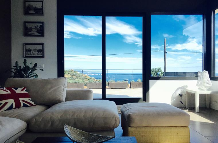Living room with seaviews
