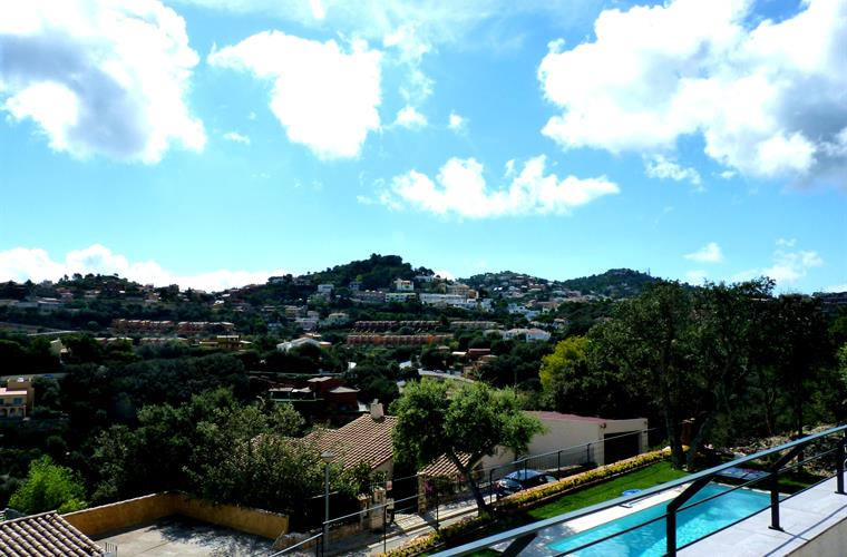 Views of the Begur from the terrace on 1st floor