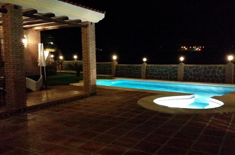 Porch and Pool at Night