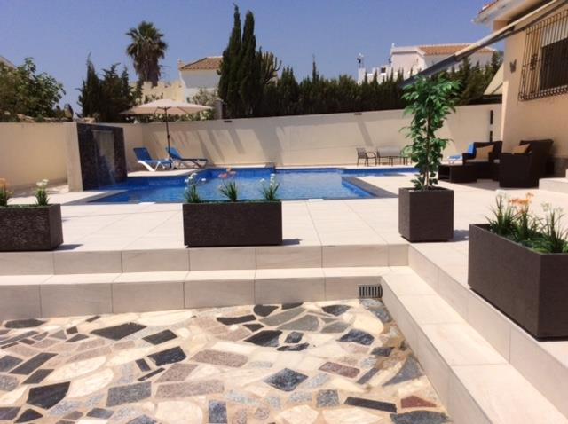 Large pool terrace