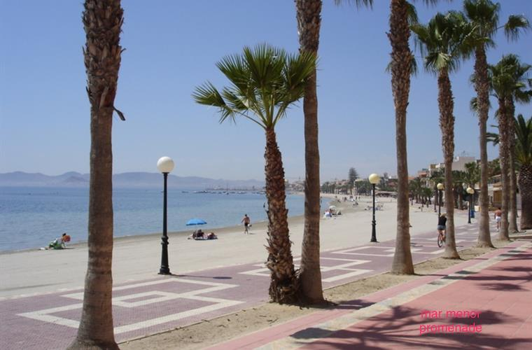 Promenade at San Pedro Mar Menor just 15 minutes away