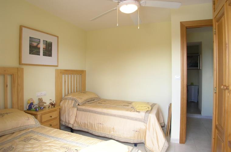 The twin bedded room with sea views